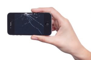 defect smartphone scherm