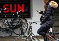 smartphone op de fiets